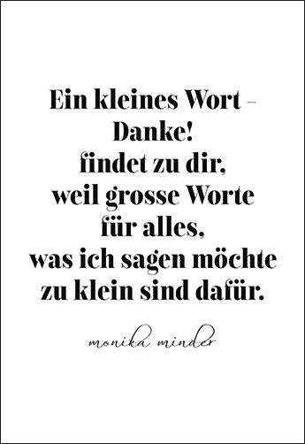 Ein Kleines Wort Danke Findet Zu Dir Gedicht Von Monika Minder